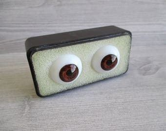 Pair of Vintage Glass Eyes - Brown (S)