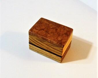 Trinket Box Made Of Burl Wood