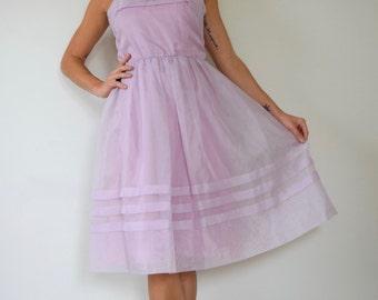 SUMMER SALE/ 30% off Vintage 60s 70s Lilli Diamond California Lilac Party Dress (size small, medium)
