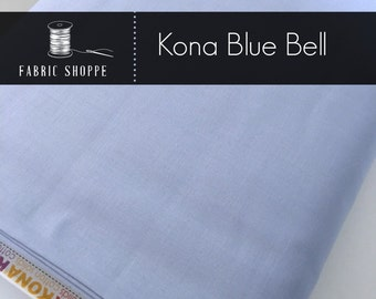 Kona cotton solid quilt fabric, Kona Blue Bell 1029, Blue fabric, Solid fabric Yardage, Kaufman, Cotton fabric, Choose the cut