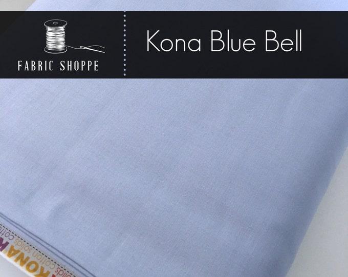 Kona cotton solid quilt fabric, Kona Blue Bell 1029, Blue fabric, Solid fabric Yardage, Kaufman, Cotton fabric, Choose the cut