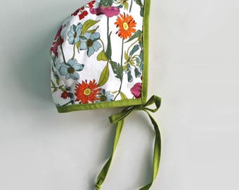 Green Thumb Flower Garden Bonnet, Baby and Toddler Sizes
