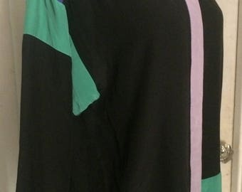 Vintage 80's Designer Giorgio Sant' Angelo Silk Blouse Shirt Size 10