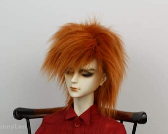 Ginger doll wig SIZE CHOICE faux fur wig BJD