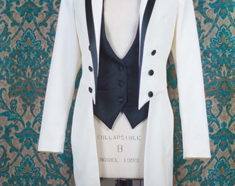 Women's White Tie----Custom Tailcoat, Vest and Pant