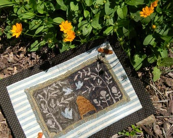 Birds and Bees - PAPER Punch Needle Pattern - from Notforgotten Farm™