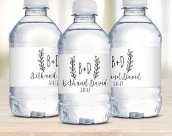 Wedding Water Bottle Labels, Waterproof Labels, Wedding Welcome Bags, Destination Weddings, Wedding Favors, Personalized, Rustic Wedding