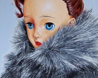 Maxine in Gray Fur Coat