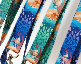 Guard Birb Cockatiel and Shiba Inu Lanyard