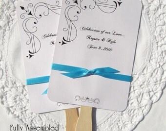 Ceremony Wedding Fan - Wedding Fans - Outdoor Wedding Fans - Personalized Wedding Fans - Wedding Hand Fans - Fans For Wedding