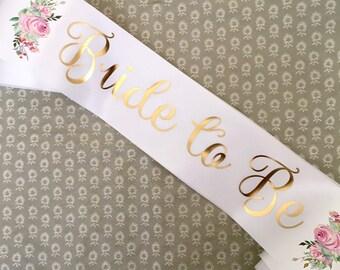 Bride to Be Sash - Rose Garden