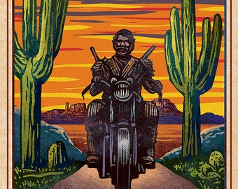 """Raising Arizona Matchbox Art- 5"""" x 7"""" signed matted print"""