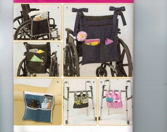 Craft Sewing Pattern Simplicity 2822 Wheelchair Sofa Arm Walker Bags Tote Purse Accessories UNCUT