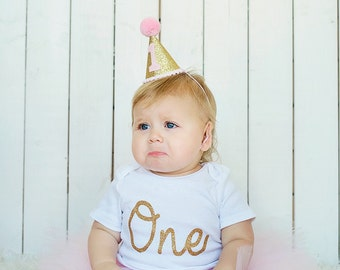 Pink and Gold First Birthday Outfit, 1st Birthday Outfit, 1st Birthday Tutu, Cake Smash Outfit, Pink Tutu, First Birthday Tutu Outfit Gift