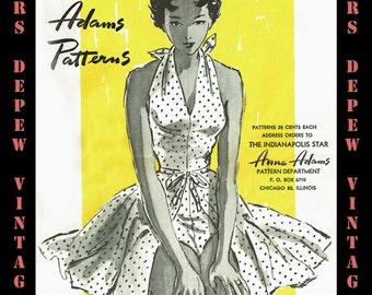 Vintage Sewing Pattern Catalog Anne Adams Mail Order 1950s Summer Digital Copy -INSTANT DOWNLOAD-