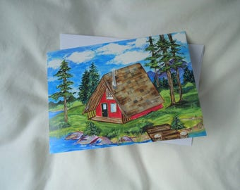 A Frame Cabin Card