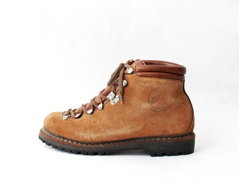 1970's Lowa Brown Suede Hiking Boots