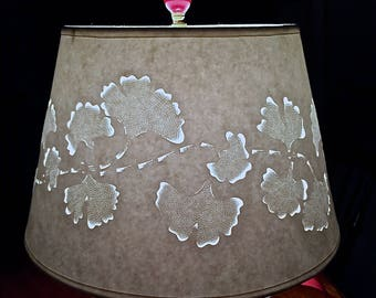 Modern Romance Ginkgo Modified Drum Lampshade ~ Transform a Room Instantly with this Amazing Original Design!