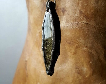 Natural Herb Necklace, Silver Metalwork, Women's Necklace, Plant Jewelry, Foodie, Gardener, Long Chain, Dill, Resin, Goddess Necklace