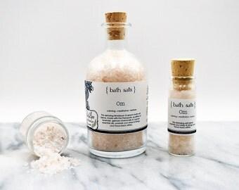 Bath Salt - Om: Himalayan & Epsom Salt Blend with pure essential oils - vegan