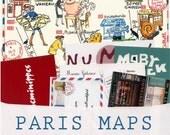 Paris Maps:12-month subscription. A different hand-illustrated Paris map every month + Paris souvenirs +bonus original watercolor
