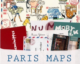 Paris Maps:12-month subscription. A different illustrated Paris map every month +bonus original watercolor