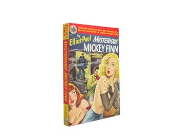 The Mysterious Mickey Finn - vintage paperback fiction from 1950 with great cover art - Free US Shipping