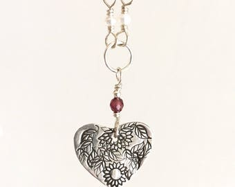 Sweetheart Sterling Silver Heart Necklace