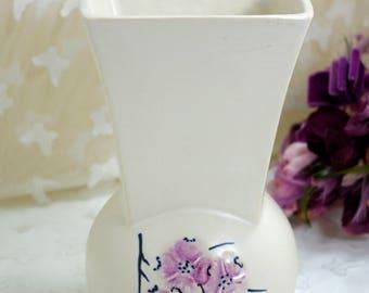 McCoy Pottery Vase, Springwood Vase. Pink Dogwood Blossoms