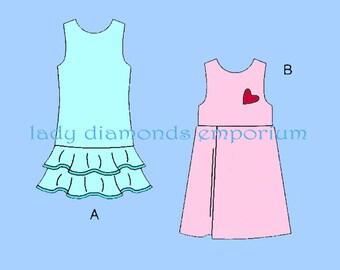 Butterick B5063 Girls Raised Waist Dress or Jumper w Pleat or Flounce size 4 5 6 Very Easy Easter Dress Pattern Butterick 5063 Uncut FF #680
