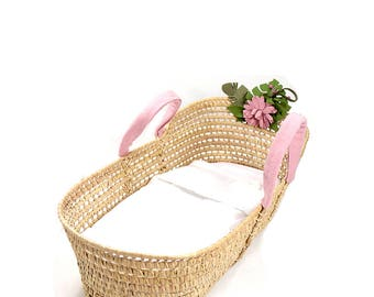 baby moses basket - floral - moses basket - girly