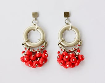 SABANETA red beaded earrings