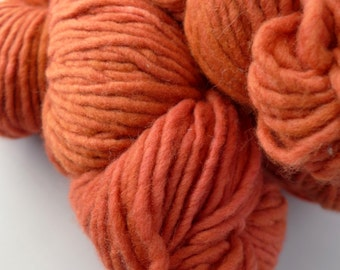 Malabrigo Yarn Merino Worsted - Garnet, 42 - Orange Red Worsted Aran Kettled Dyed Merino Yarn