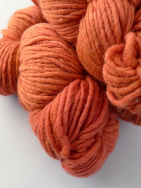 Malabrigo Yarn Merino Worsted - Garnet, 42 - Orange Red Worsted Aran Kettled Dyed Merino Yarn