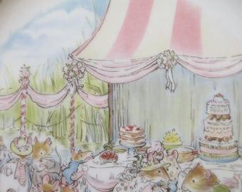 Vintage Plate, Brambly Hedge Plate, Brambly Hedge Wedding Plate, Royal Doulton, Jill Barklem Plate, Animals' Wedding, Cute Kawaii Zakka