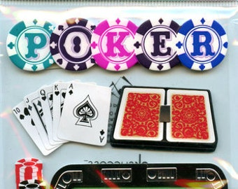 Jolees Boutique 3D Stickers for Scrapbooking, Cardmaking,  Poker Stickers