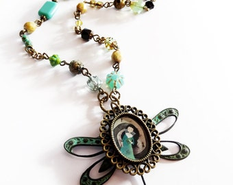 The Spiral of Dreams - Original handmade necklace - brass jewelry