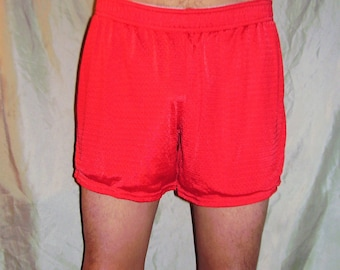 Champion Red Mesh Running Shorts M