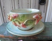 MADE for JEANNE Strawberry Strainer Bowl  with plate