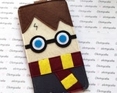 Custom Size Felt iPhone Case, Cell Phone Sleeve, Felt Phone case, Handmade cell phone purse, Harry Potter inspired case, iPhone 7 case