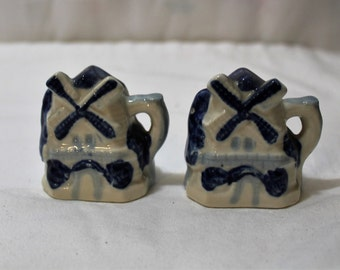 Vintage Windmill Salt and Pepper Shakers, Occupied Japan