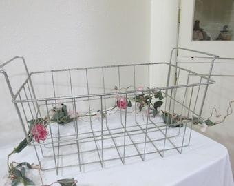 Wire Basket 2 Handle Tote Outdoor Toy Caddie Freezer Storage