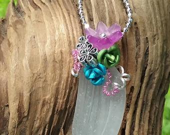 Sea Glass Necklace … Bonfire beauty