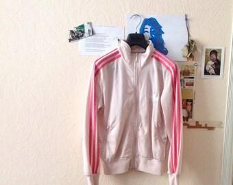 Vintage Adidas Jacket Pink Womens M Medium