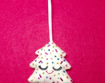 Cute Christmas Ornament - Christmas Tree Ornament - Christmas Decoration - Cute Christmas Decor - Cute Christmas Bauble