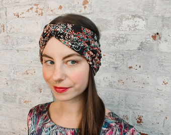 Turban Headband - liberty print hairband - womens turban headwrap - floral print headband - liberty of london - adult turban headband