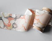 Marbled Silk Ribbon in Ballet Pink