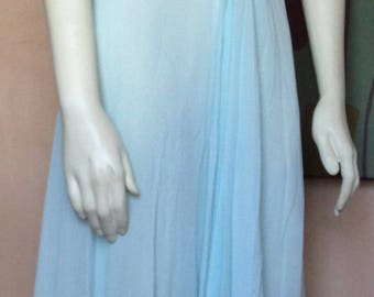 lovely soft blue nightgown with sheer back