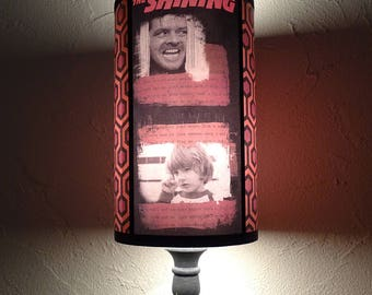 The Shining lamp shade Lampshade - classic horror movie, carpet, bedside lamp shade, kitsch lamp shade,orange lampshade, dorm,Overlook Hotel