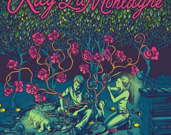 Ray LaMontagne - Official Hand Printed Gig Poster